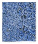 Los Angeles Map Retro 5 Fleece Blanket
