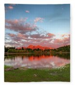 Lost Lake Sunset Fleece Blanket