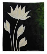 Lotus Fleece Blanket