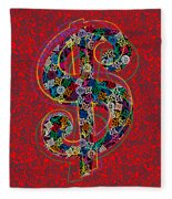 Louis Vuitton Dollar Sign-7 Fleece Blanket