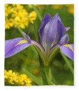 Louisiana Iris Fleece Blanket
