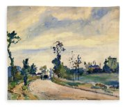 Louveciennes, Road Of Saint-germain - Digital Remastered Edition Fleece Blanket