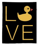 Love Ducks Super Cute And Very Fun Love Gift Idea Design Fleece Blanket