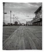 Low On The Boardwalk Fleece Blanket