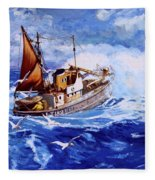Lowestoft Trawler Fleece Blanket