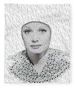 Lucille Ball 2a Fleece Blanket