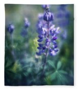 Lupine Blues Fleece Blanket