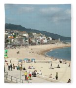 Lyme Regis Beach Fleece Blanket