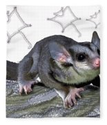 M Is For Mahogany Glider Fleece Blanket