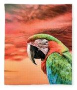 Macaw Parrot Fleece Blanket