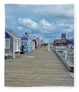 Macmillan Pier Provincetown Cape Cod Massachusetts 01 Fleece Blanket