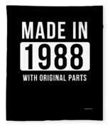 Made In 1988  Fleece Blanket