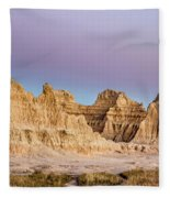 magenta Dawn in the Badlands  Fleece Blanket