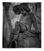 Magnolia Child Statue Fleece Blanket