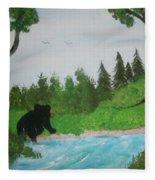 Maine Black Bear Fleece Blanket