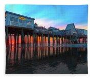 Maine Magnificent Morning Fleece Blanket