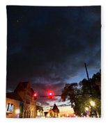 Maine Street Sunset  Fleece Blanket