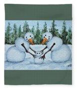 Making A Snowbaby Fleece Blanket