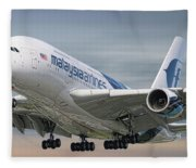 Malaysia Airlines Airbus A380-841 Fleece Blanket