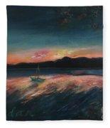 Malletts Bay Sunrise Colchester Vermont Fleece Blanket