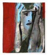 Man At A Bar Fleece Blanket
