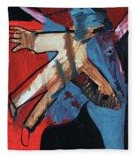 Man Flying Fleece Blanket
