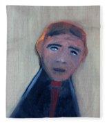 Man In A Black Shirt Fleece Blanket