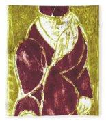 Man In A Crimson Hat Fleece Blanket