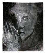 Man In The Dark Fleece Blanket