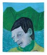 Man Leaving An Island Fleece Blanket