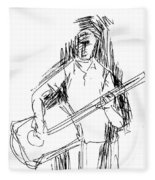 Man On Guitar Fleece Blanket