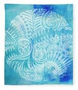 Mandala In Blue And White Fleece Blanket by Jocelyn Friis