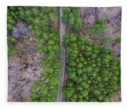 Manistee Pines Panorama Fleece Blanket