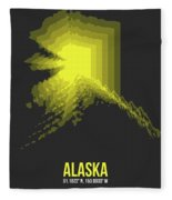 Map Of Alaska Fleece Blanket