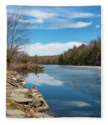 March Morning At Sanctuary Pond Fleece Blanket