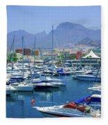 Marina Of Costa Adeje Fleece Blanket