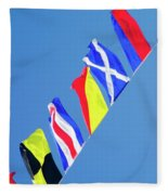 Maritime Signal Flags Fleece Blanket