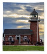 Mark Abbott Memorial Lighthouse And Santa Cruz Surfing Museum Fleece Blanket
