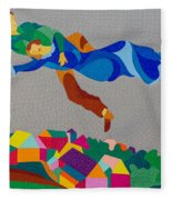 Mark And Bella Chagall Above The City Fleece Blanket