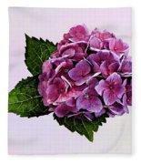 Maroon Hydrangea Fleece Blanket