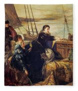 Mary, Queen Of Scots - The Farewell To France, 1867  Fleece Blanket