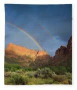 Maxwell Canyon Rainbow Fleece Blanket