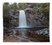 May Evening At Awosting Falls I Fleece Blanket