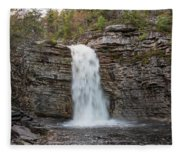 May Evening At Awosting Falls II Fleece Blanket