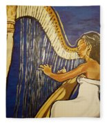 May The Strings Make You Smile Fleece Blanket