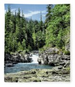 Mcdonald Creek 1 Fleece Blanket