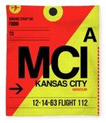 Mci Kansas City Luggage Tag I Fleece Blanket