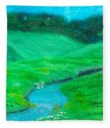 Meadow Beauty Fleece Blanket