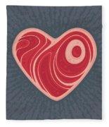 Meat Heart Fleece Blanket