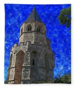 Medieval Bell Tower 4 Fleece Blanket